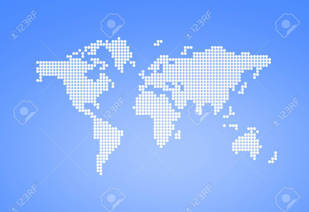 White dotted world map world map with circles on light blue stock stock photo white dotted world map world map with circles on light blue background gumiabroncs Gallery
