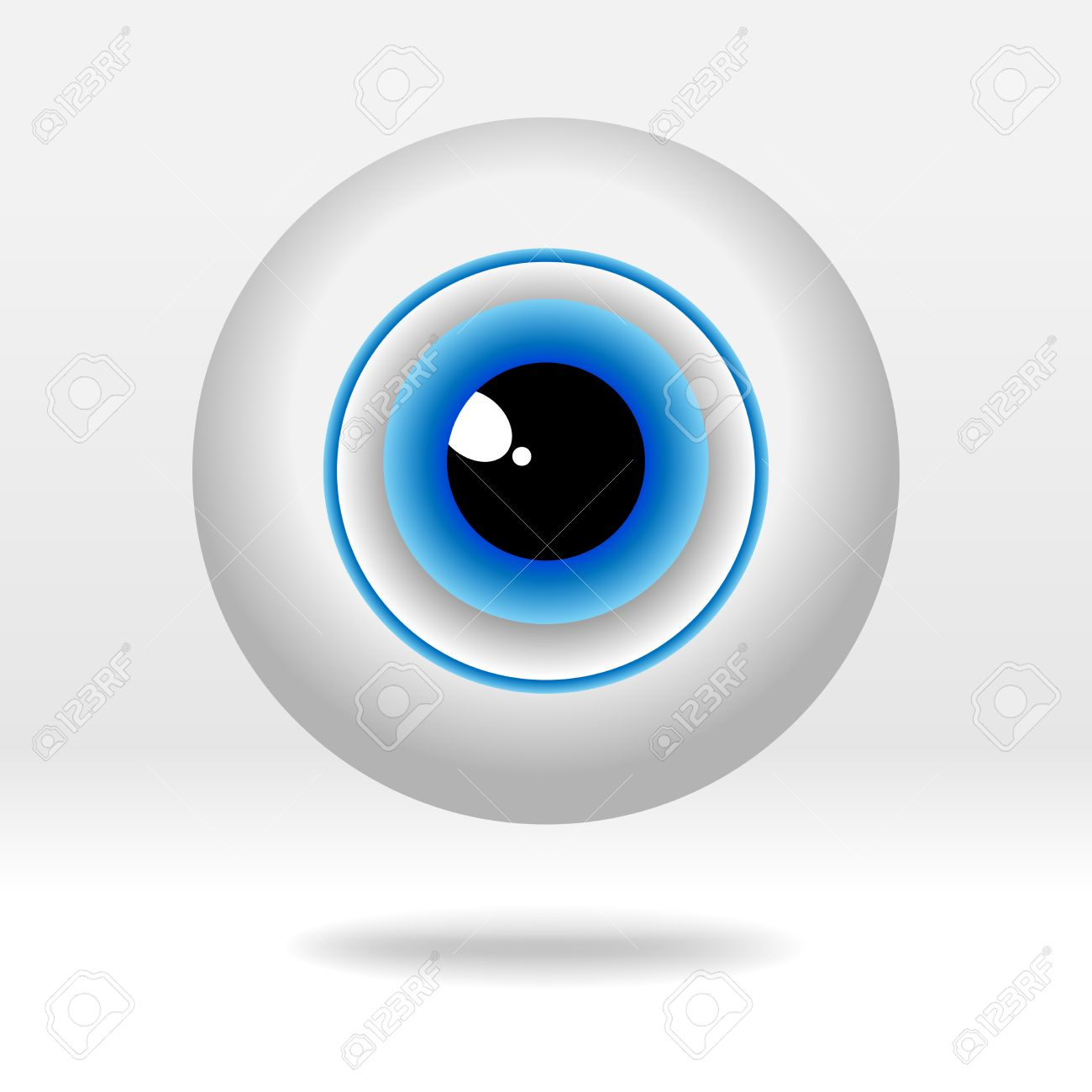 beautiful blue eyeball on light background simple human eye rh 123rf com eyeballs vector free free vector eyeball