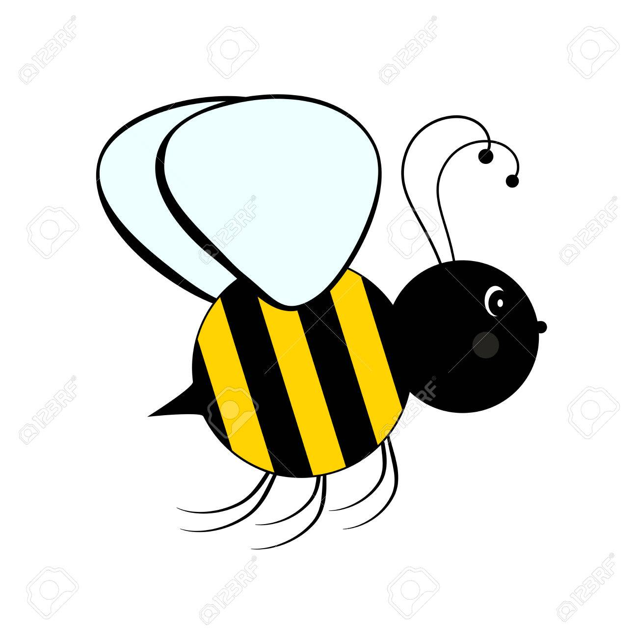 bee on white background flat icon of bee vector illustration rh 123rf com bee vectoring bee vector free