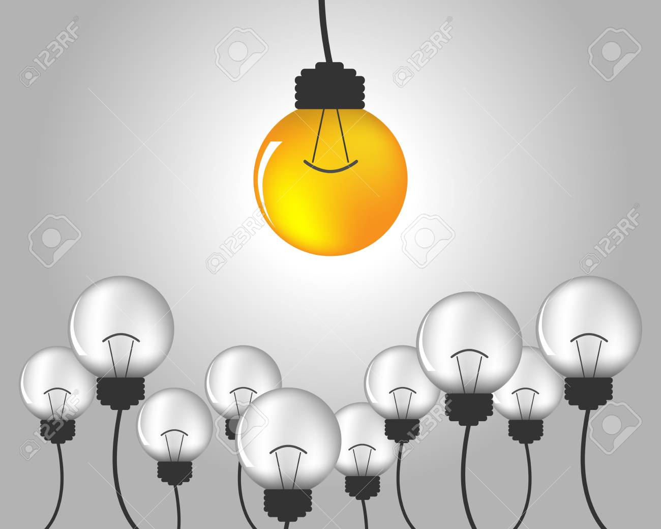Light bulb idea vector illustration idea of light bulb