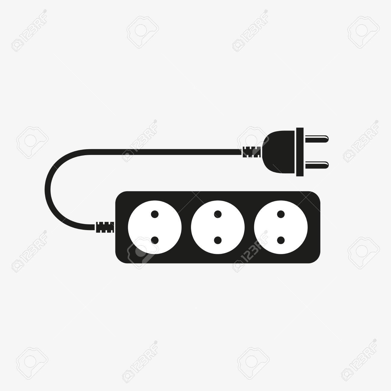 Extension Cord - Vector Illustration. Icon Of Power Extension ...