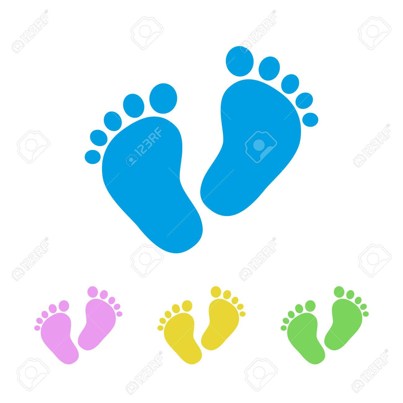 set of the baby footprints vector illustration simple footprints rh 123rf com baby footprint clipart vector baby footprint clipart free