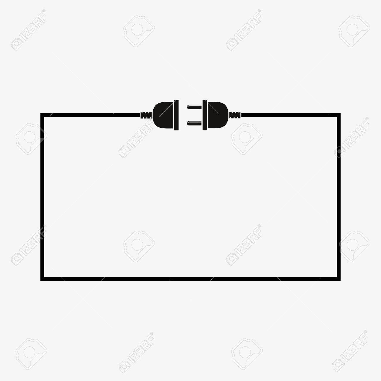 Wire Plug And Socket Vector Illustration Concept Connection Wiring Diagram Sockets Disconnection Electricity