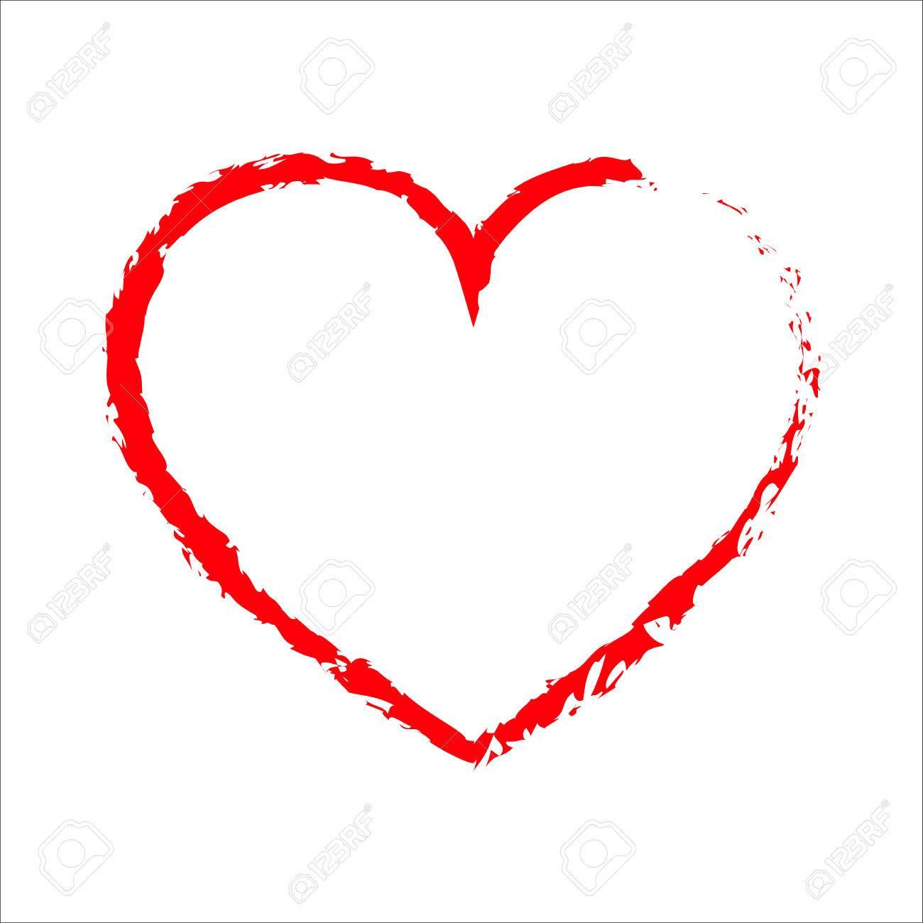 Coeur Dessin coeur de dessin rouge. red icône de coeur. vector illustration