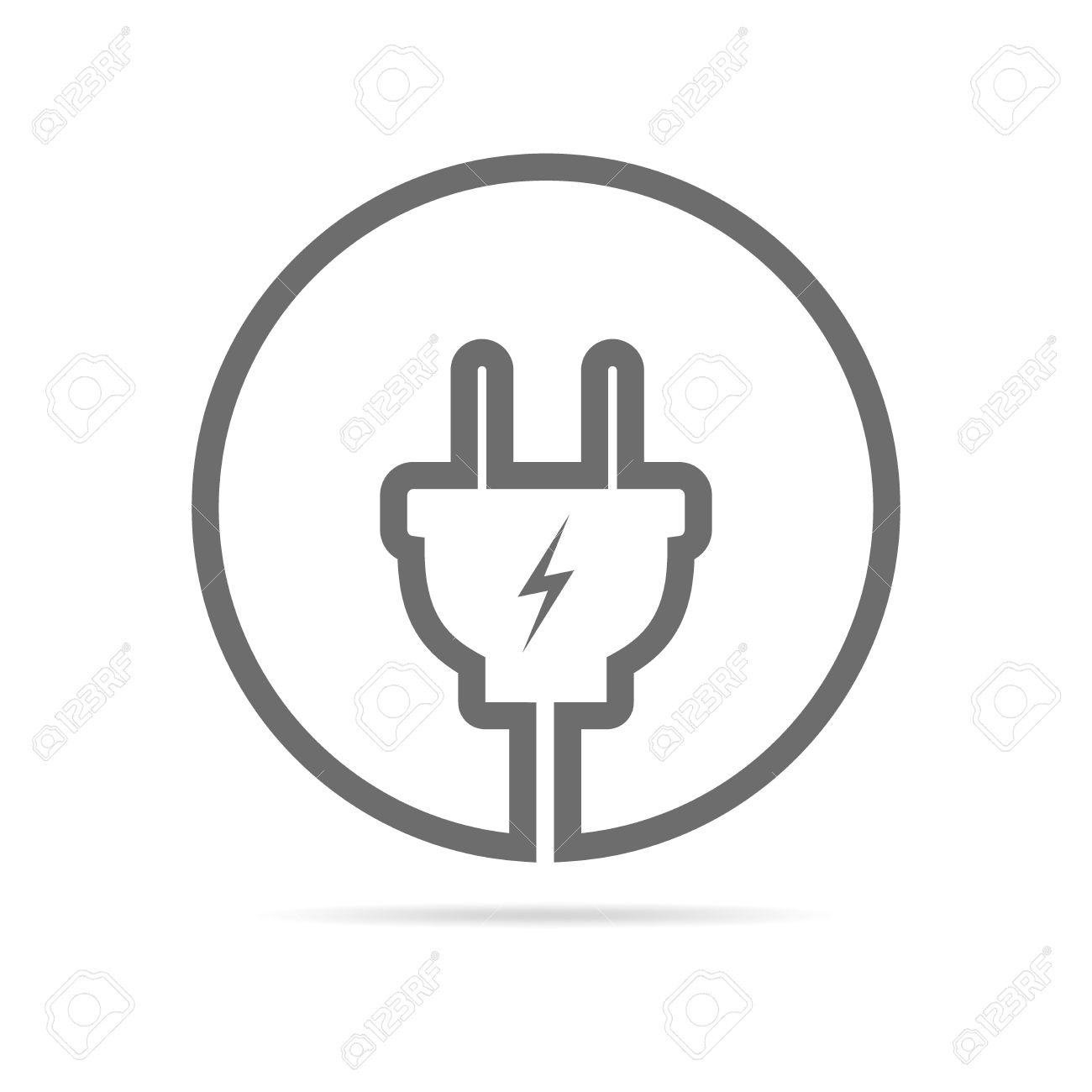 Wire Plug Icon In Flat Design Vector Illustration Wiring A The Circle Concept Of Connection And Disconnection Electricity
