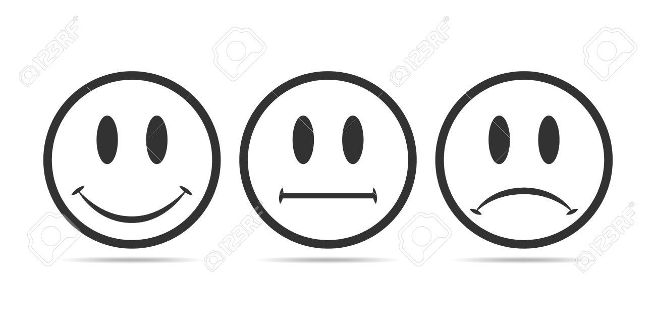 smiley faces rating icons vector illustration gray round smilies rh 123rf com smile vector free smile factor 10