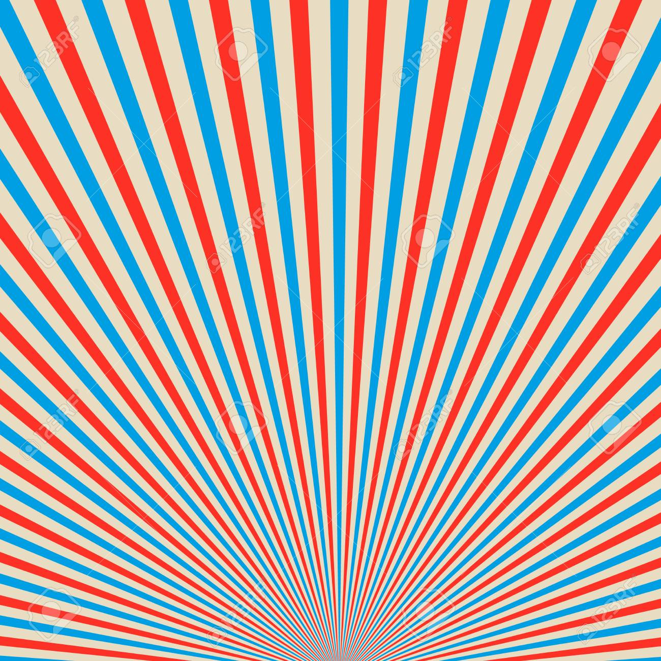 Abstract Colored Sunbeams Background Red And Blue Sun Rays On
