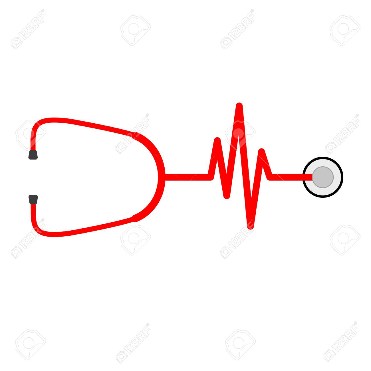 stethoscope in shape of electrocardiogram vector illustration rh 123rf com ekg vector circle ekg vector