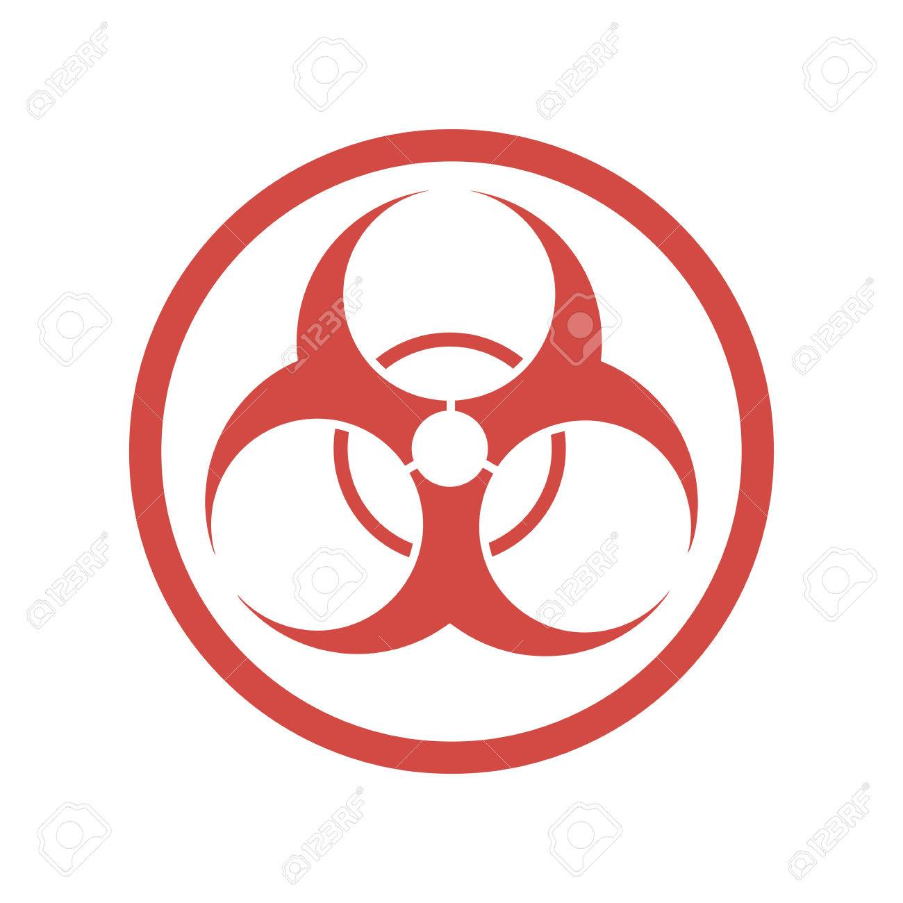 Biohazard icon in flat design vector illustration red symbol biohazard icon in flat design vector illustration red symbol of biohazard isolated on biocorpaavc Image collections