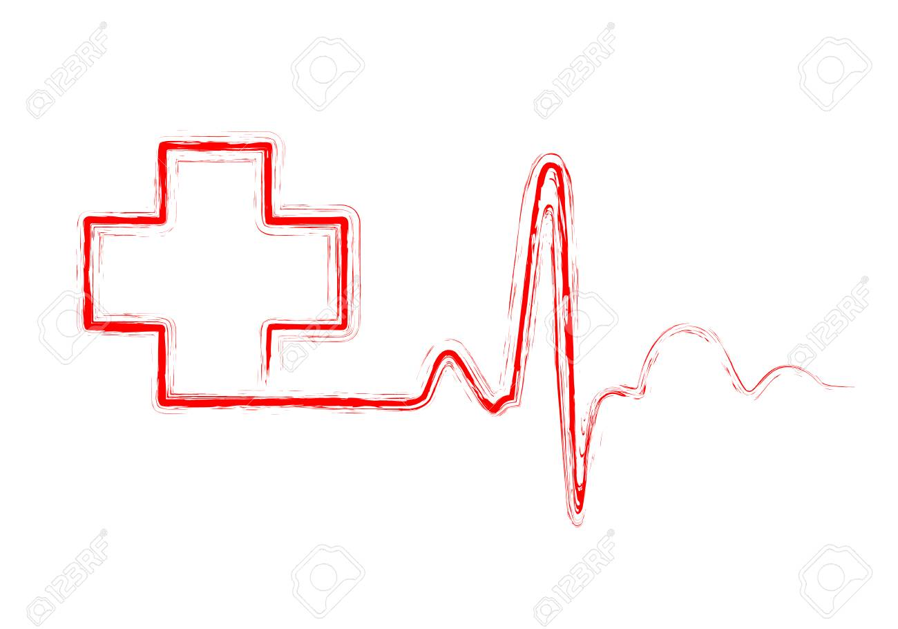 Cross Heart Beat Line Wiring Diagrams Harvester Public Circuit Online Simulator Docircuits Red Heartbeat Sign With Medical Vector Illustration Rh 123rf Com Inside Tatto