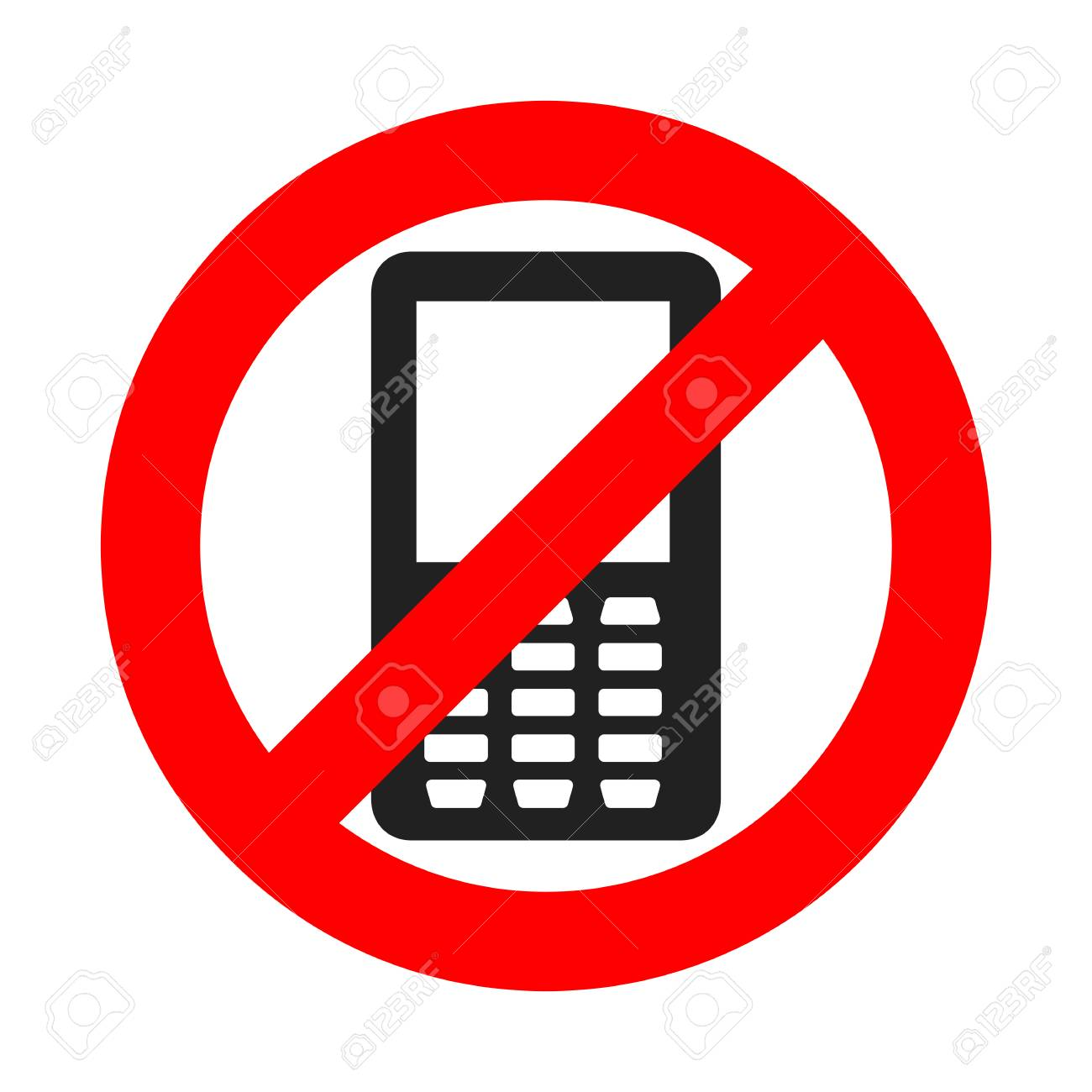 no phone sign vector illustration no cell phone do not use your phone