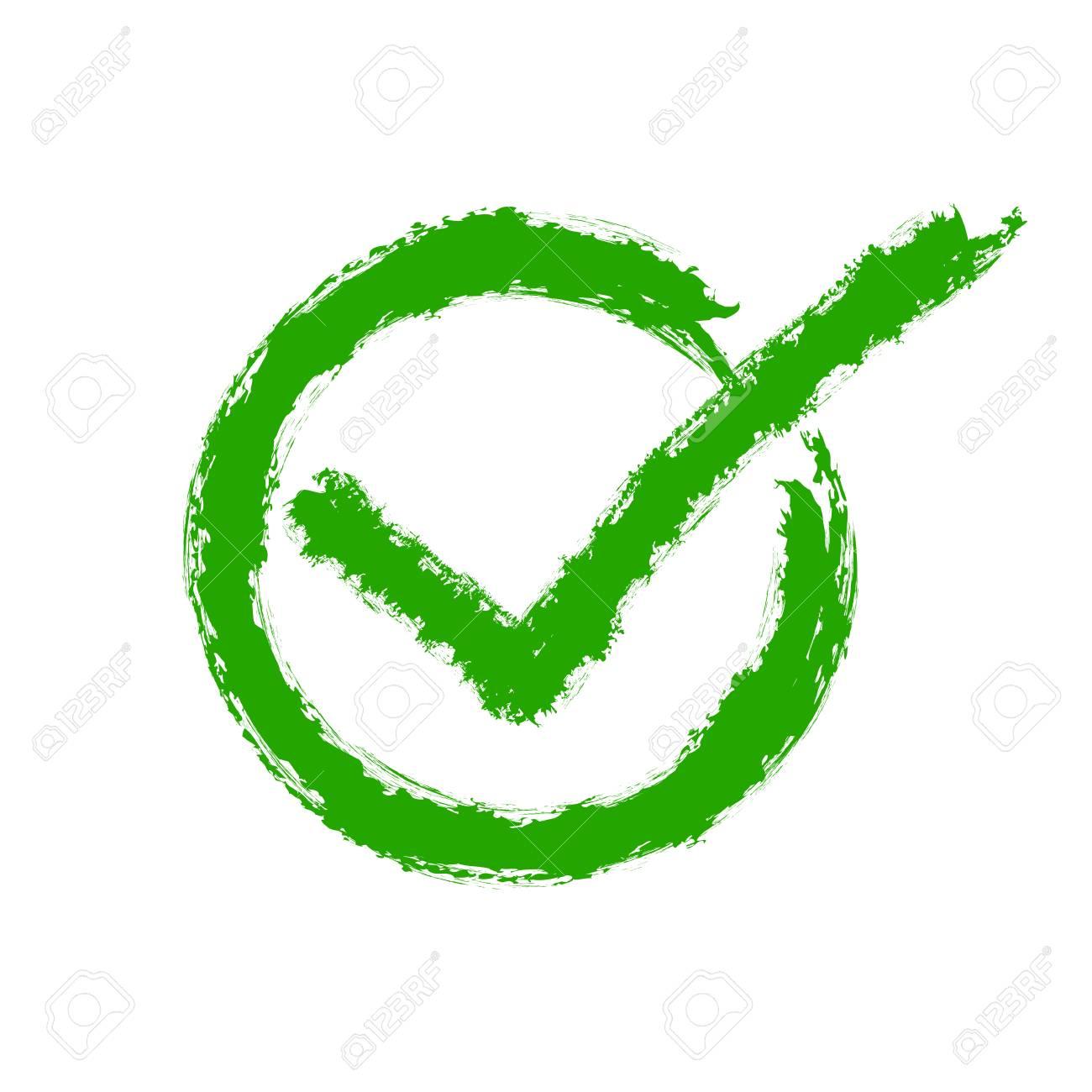 green drawing of the check mark vector illustration hand drawn rh 123rf com check mark vector png check mark vector icon free