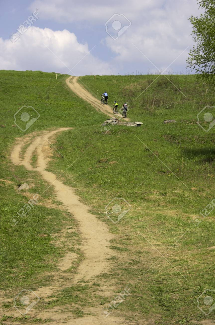 Bicycle road. Stock Photo - 417008