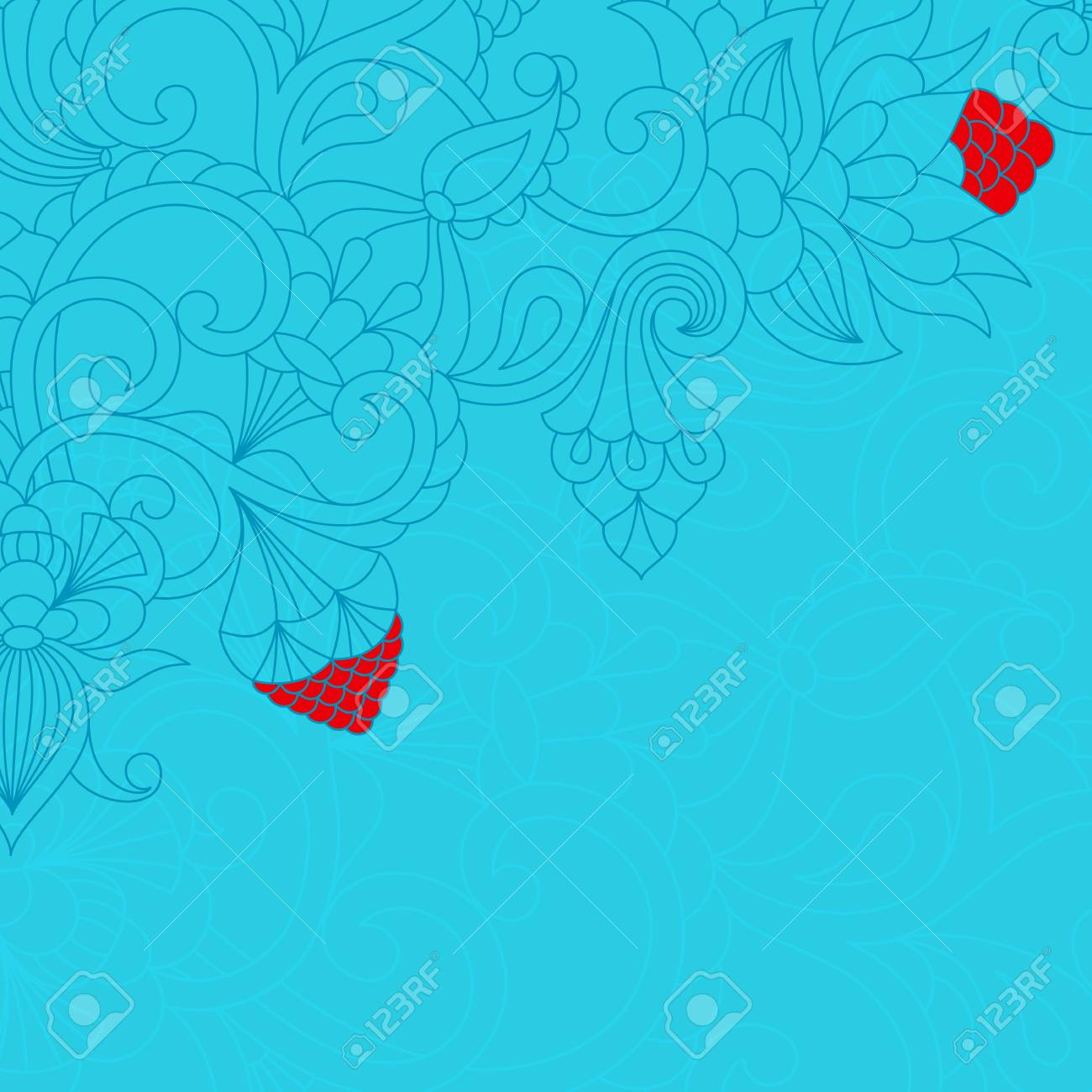 card with floral ornament and place for text. Stock Vector - 13077296
