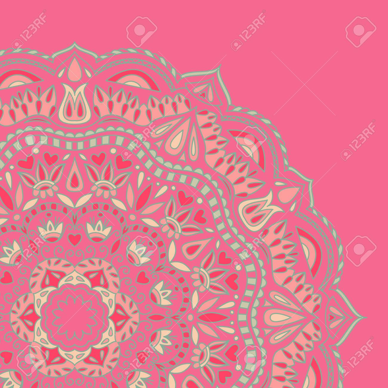 illustration with ornament for greeting card. Stock Vector - 13196948