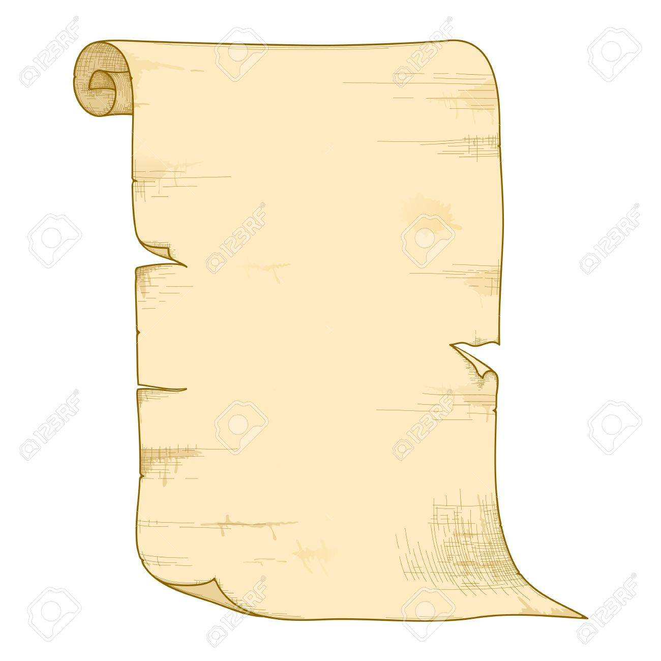 illustration of old paper roll isolated on white background. Stock Vector - 13331417
