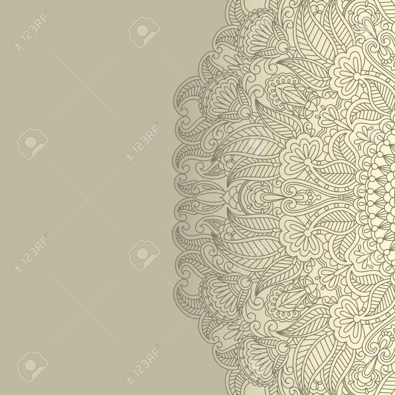 illustration with floral ornament for print. Stock Vector - 14477899