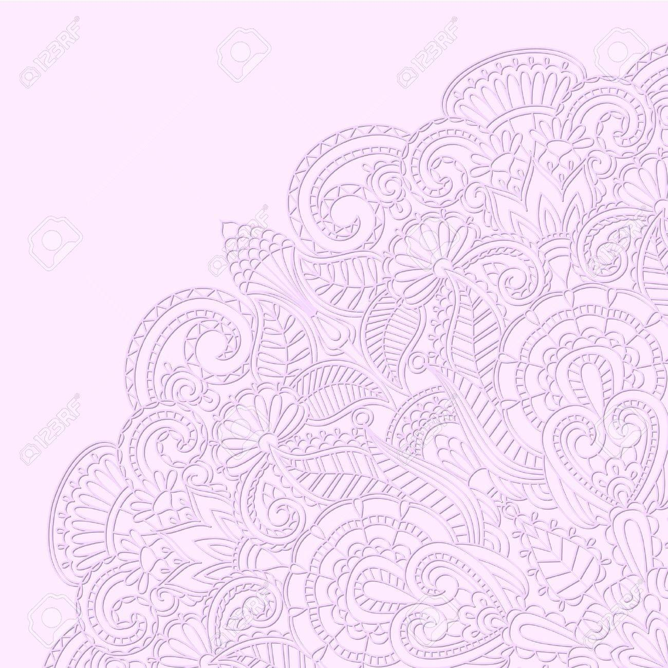 Vector illustration with floral ornament for print. Stock Vector - 14916216