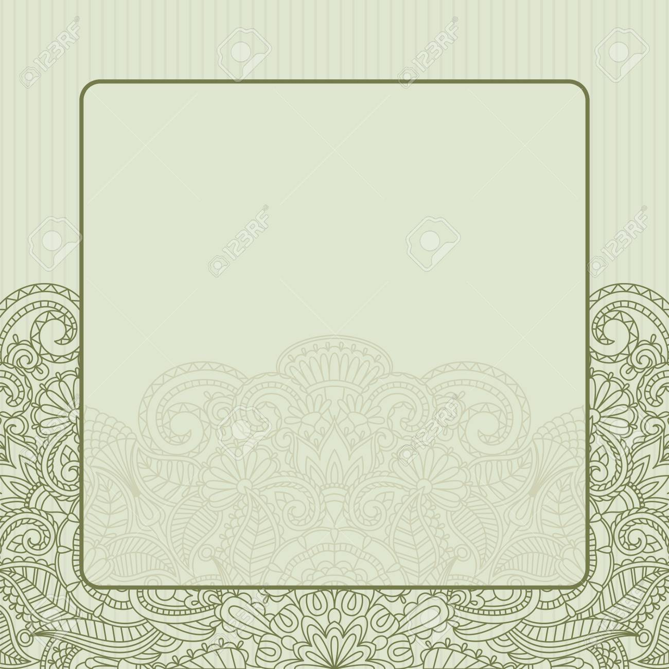illustration greeting card with floral pattern. Stock Vector - 15425598