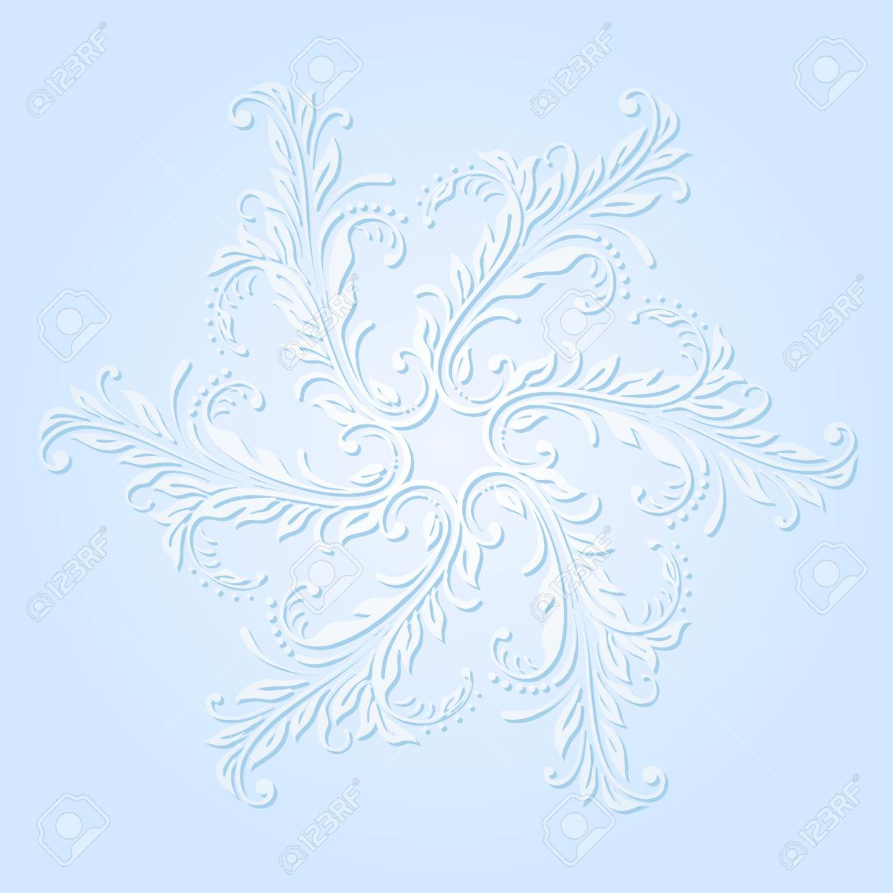 illustration with snowflake on blue background. Stock Vector - 16216937