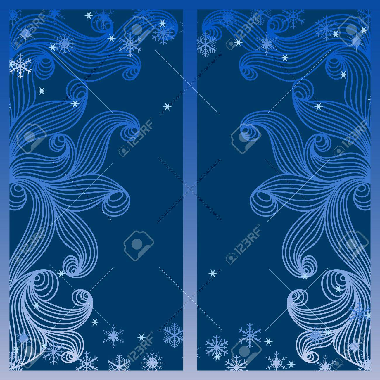 illustration with night winter window and snowflakes. Stock Vector - 16216926