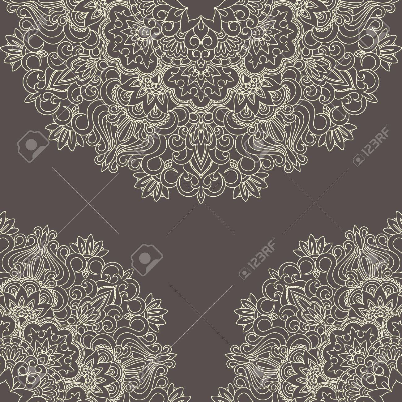 Vector illustration with vintage pattern for print, embroidery. Stock Vector - 16399875