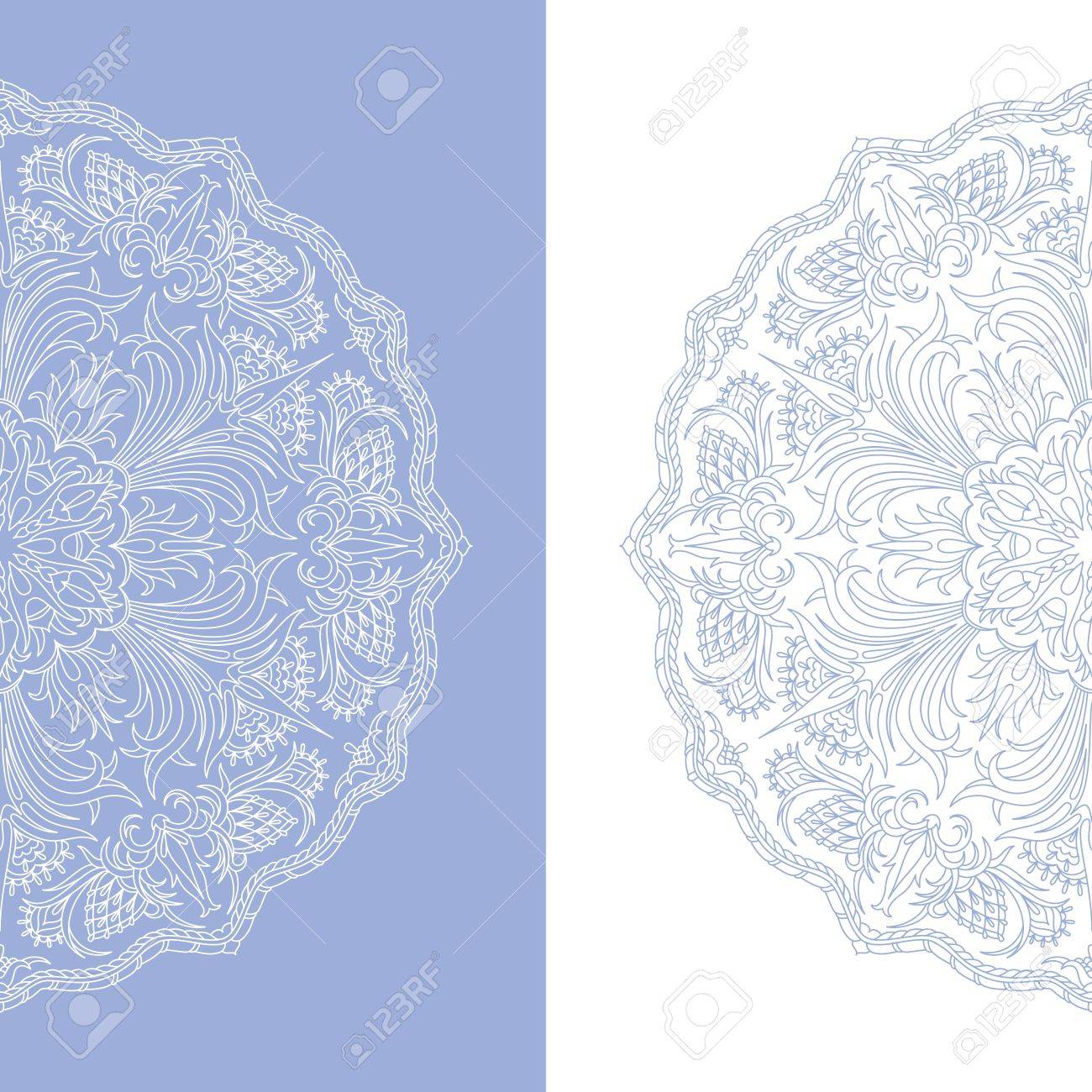illustration with vintage pattern for print. Stock Vector - 16483116