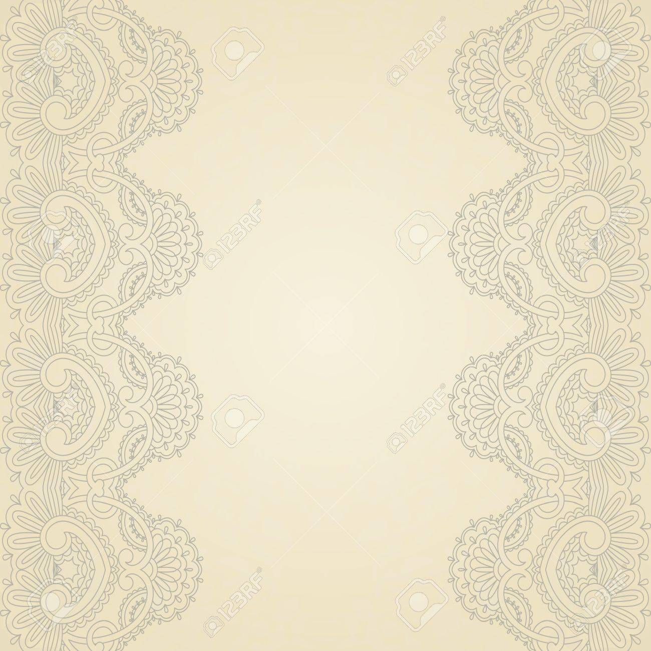 illustration with vintage pattern for print, embroidery Stock Vector - 16603102