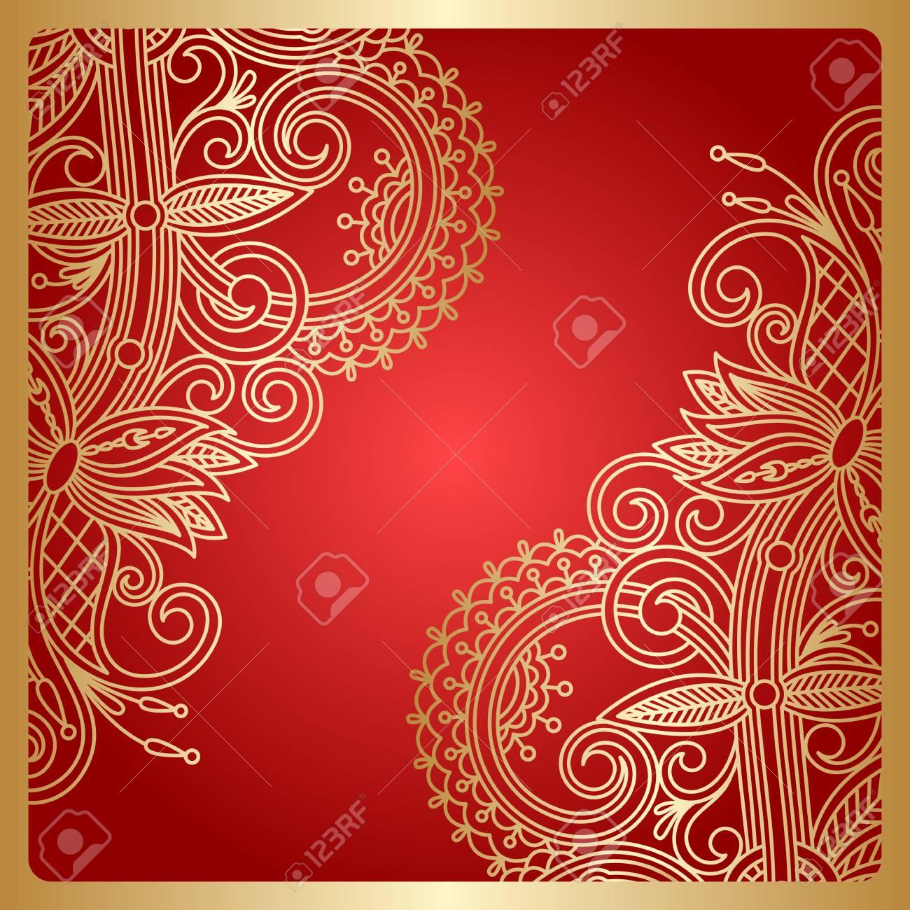 Floral Decorative Background, Template Frame Design For Card ...