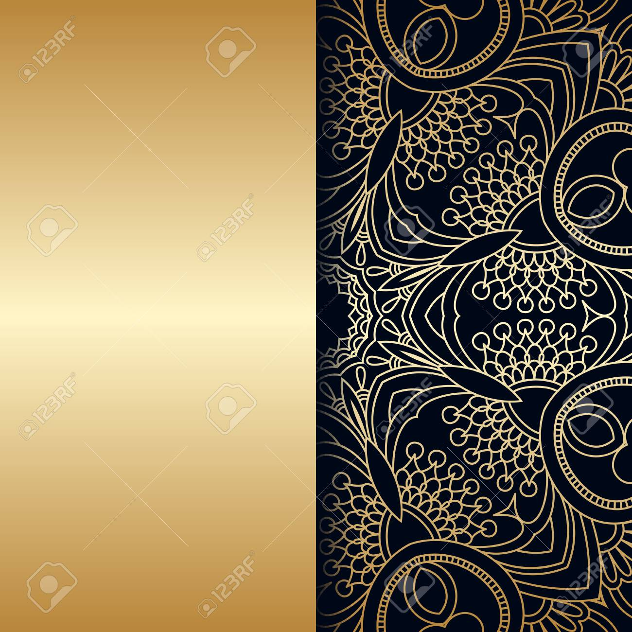 Vector Vintage Floral Decorative Background For Design Invitation Royalty Free Cliparts Vectors And Stock Illustration Image 73382052