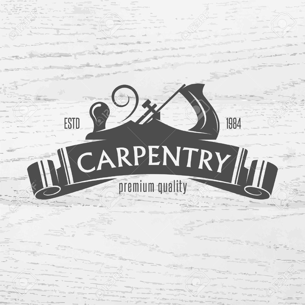 Carpenter Design Element In Vintage Style For Logo Label Badge