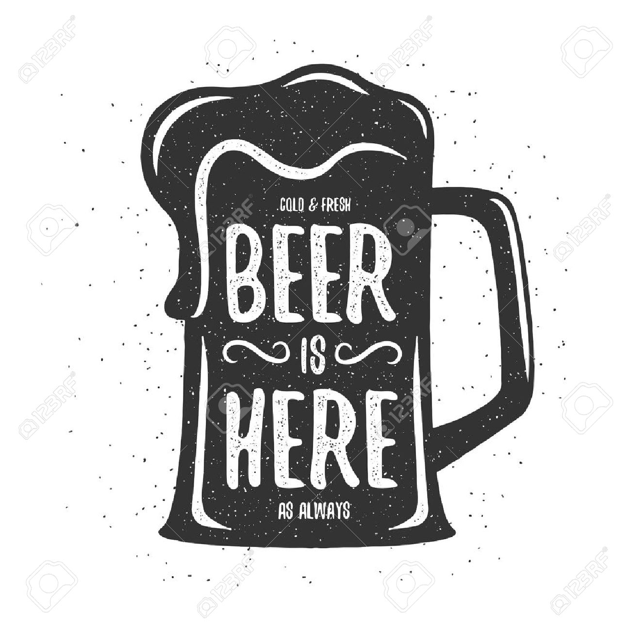 Poster design drawing - T Shirt Poster Design Cold And Fresh Beer Is