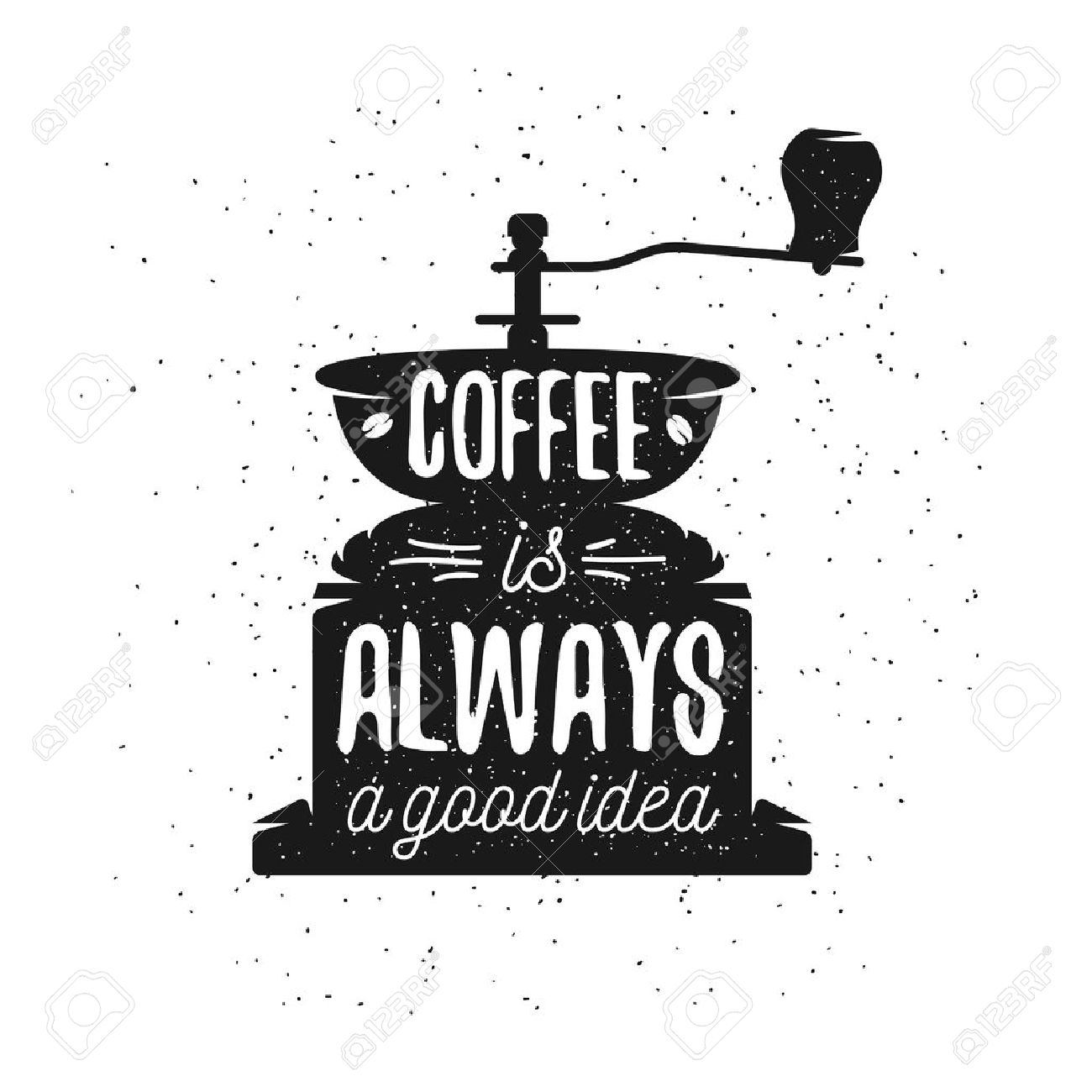Free Quote Maker Hand Drawn Typography Coffee Postergreeting Card Or Print