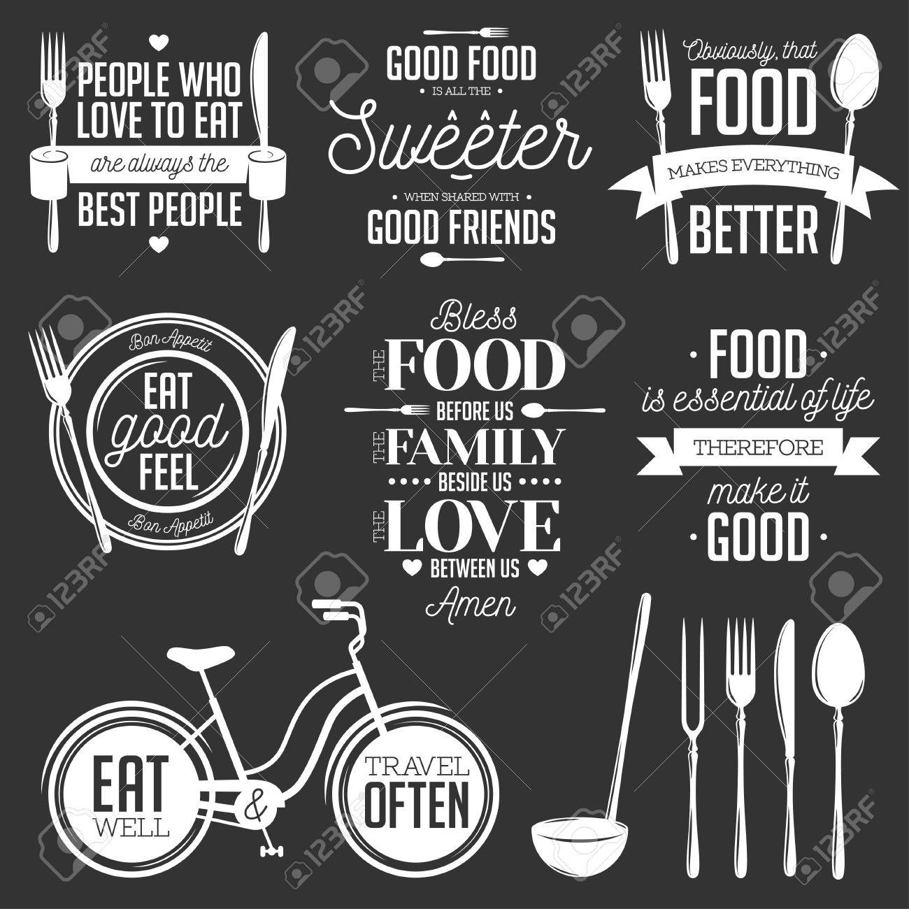 image about Kitchen Printable named Fixed of traditional food stuff equivalent typographic rates. Vector instance