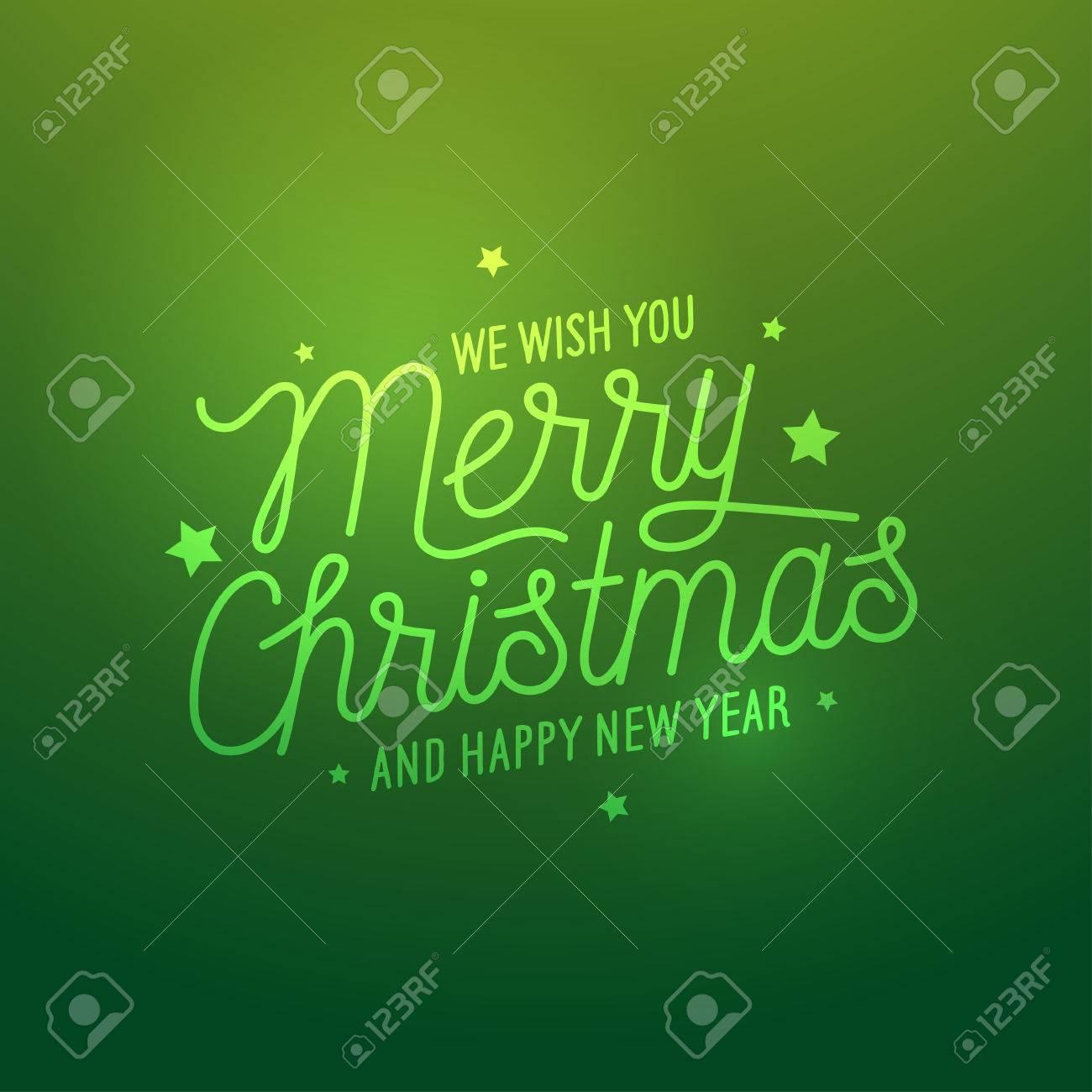 Frohe Weihnachten Licht Grün Vektor Hintergrund. Karte Oder ...