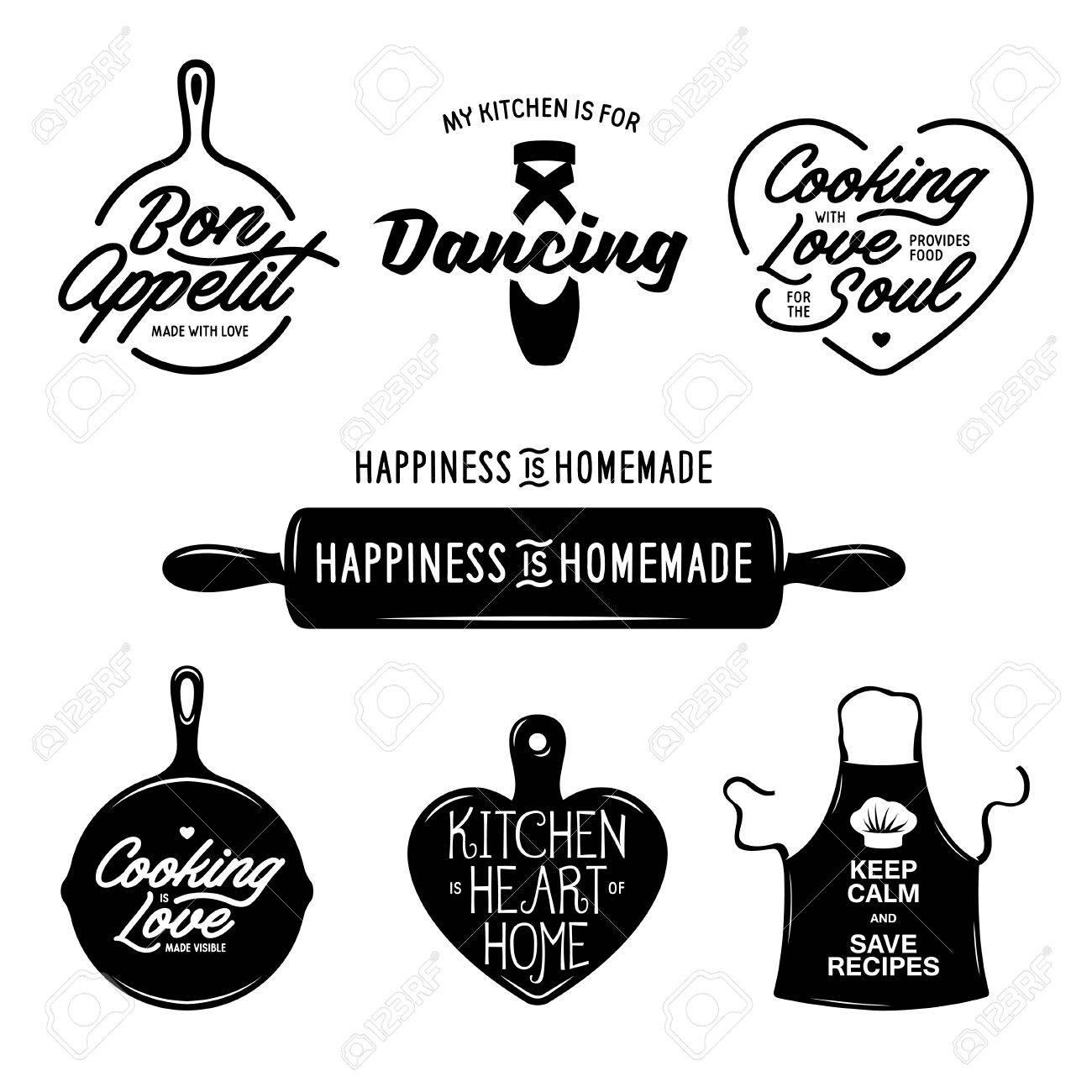 Cuisine Liée à Lensemble De La Typographie Citations Sur La - Citation sur la cuisine