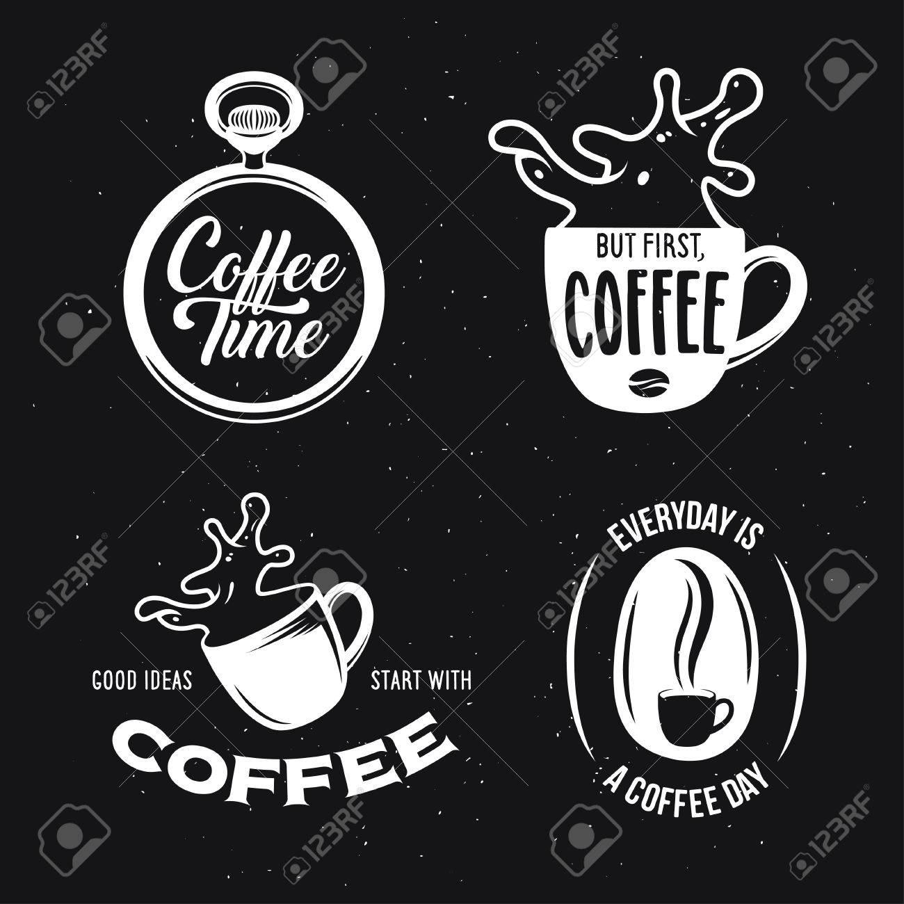 Citaten Koffie English : Koffiegerelateerde citaten ingesteld. koffietijd. maar eerst koffie