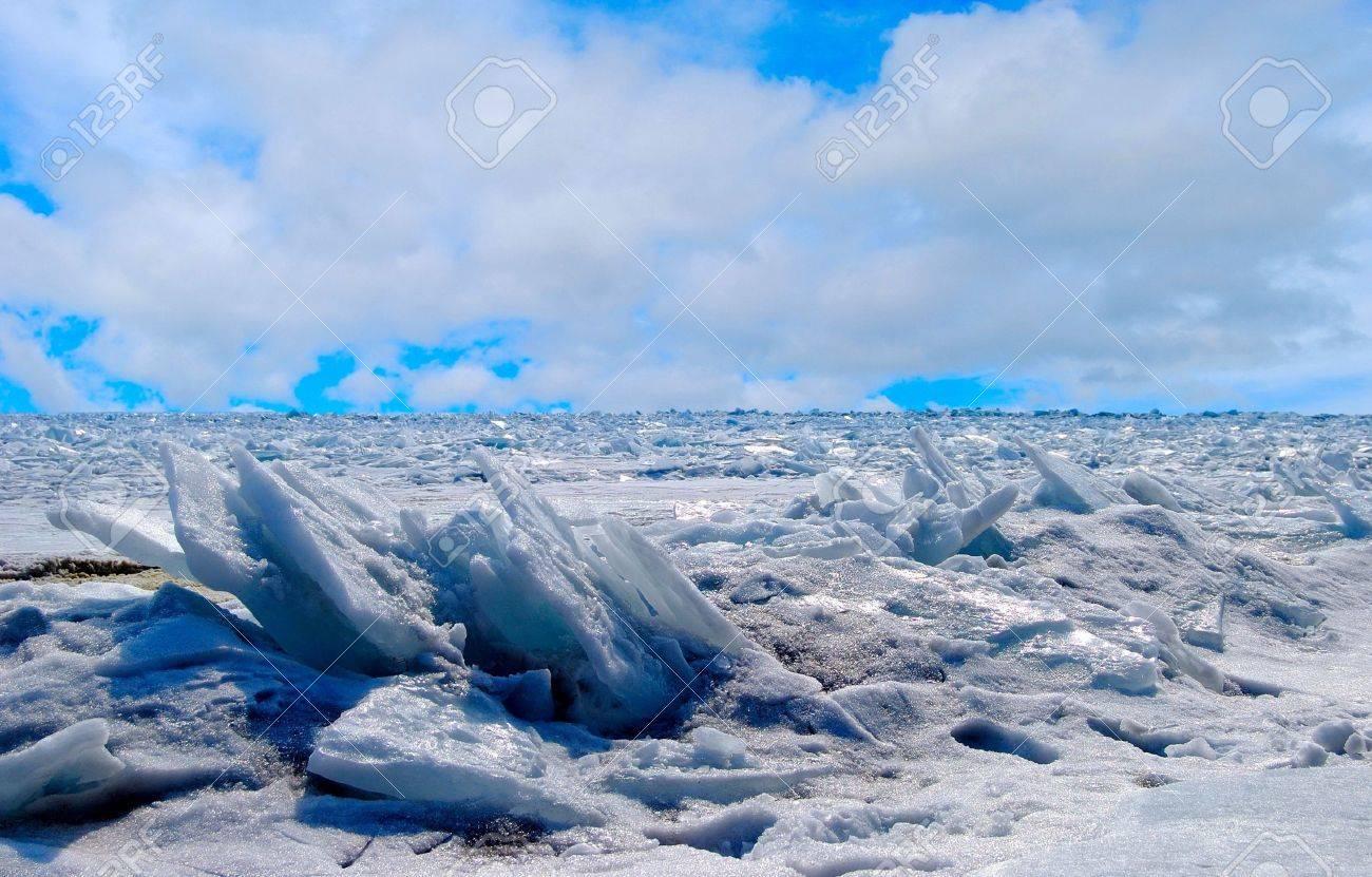Frozen Lake Baikal in winter. Stock Photo - 4684677