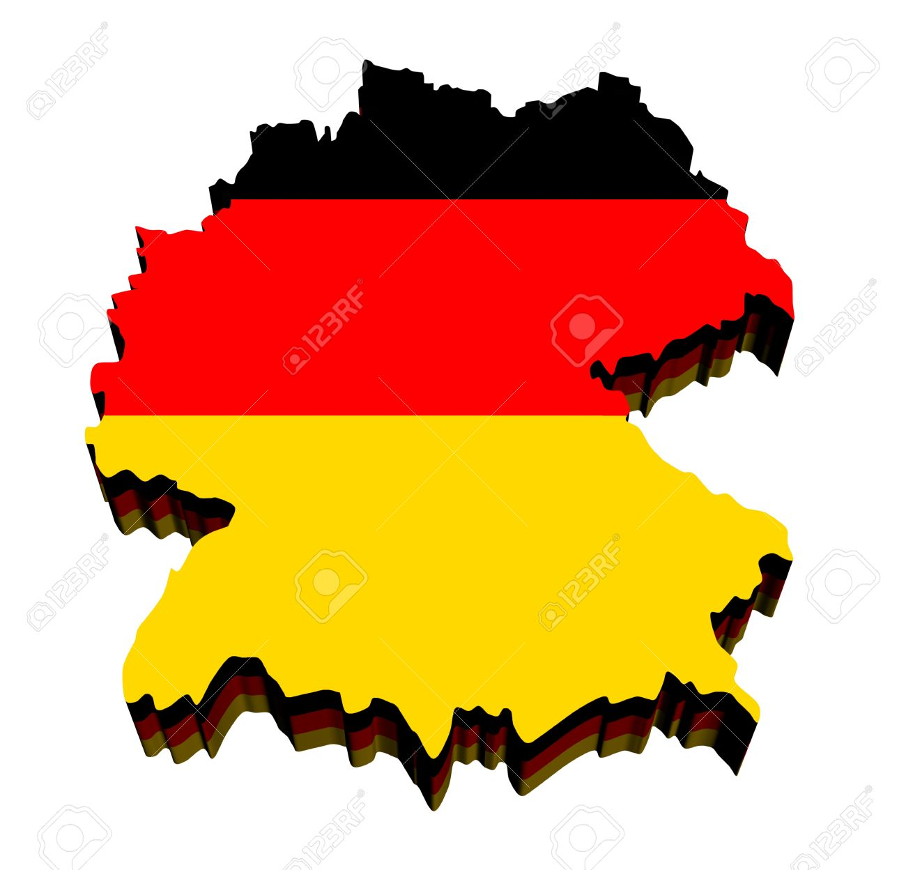 Map Of Germany Against White Background Close Up Stock Photo - Germany map cartoon