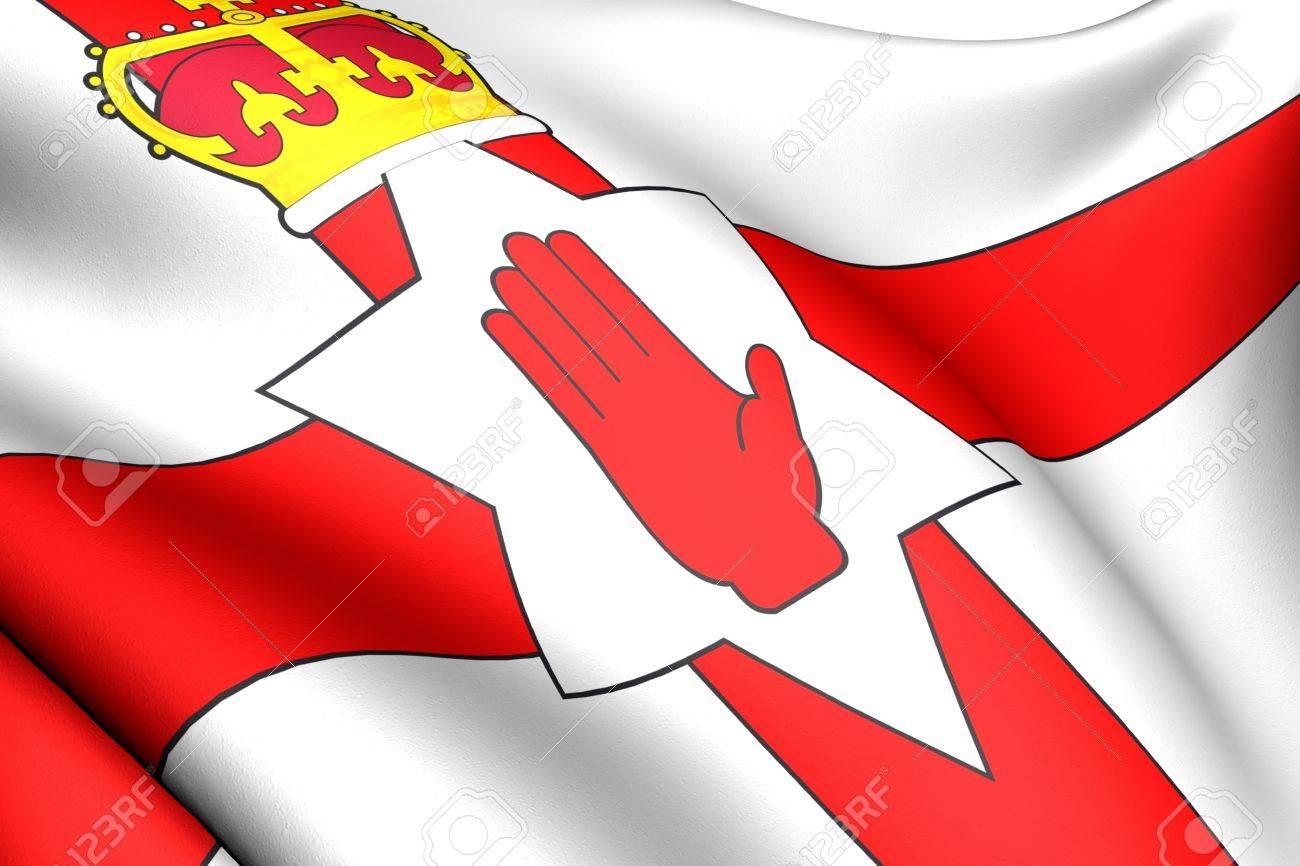 Flag of Northern Ireland against white background. Close up. Stock Photo - 8754507