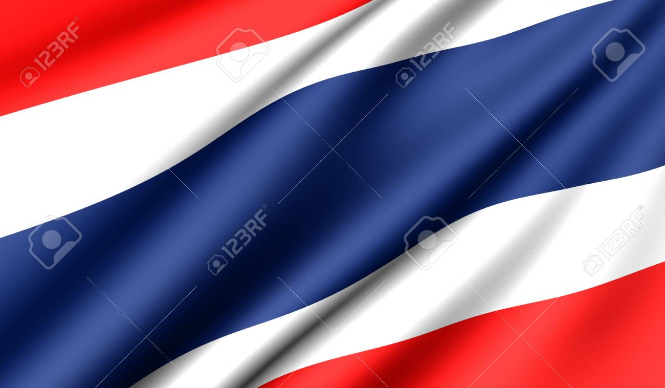 Flag of Thailand. Close up. Front view. Stock Photo - 8754471