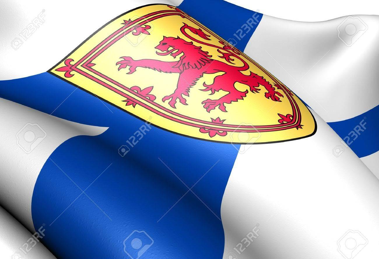 Flag of Nova Scotia. Close up. Stock Photo - 9691563