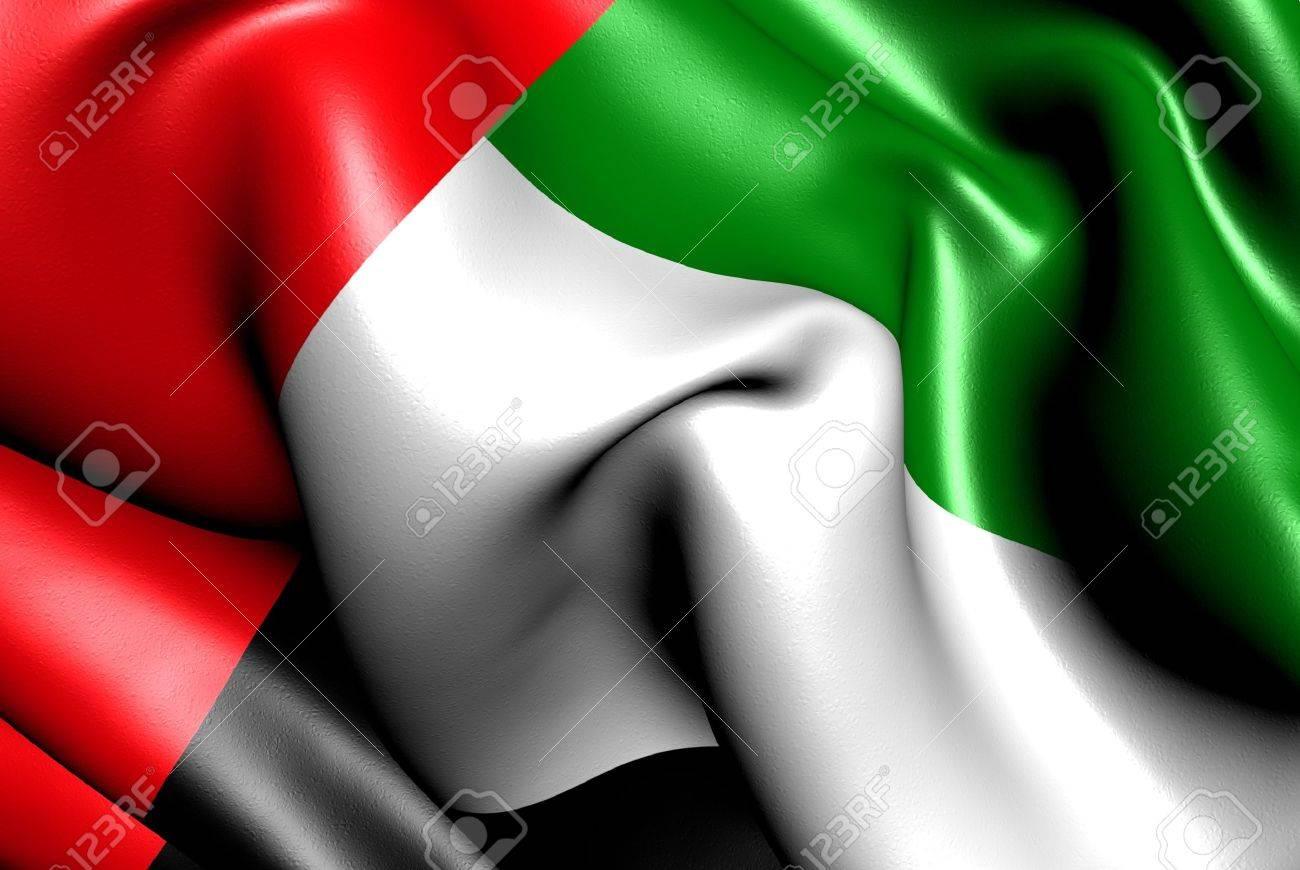 Flag of United Arab Emirates. Close up. Stock Photo - 9764231