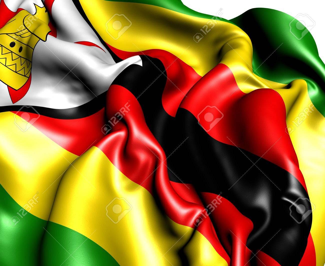 Flag of Zimbabwe. Close up. Stock Photo - 9873121