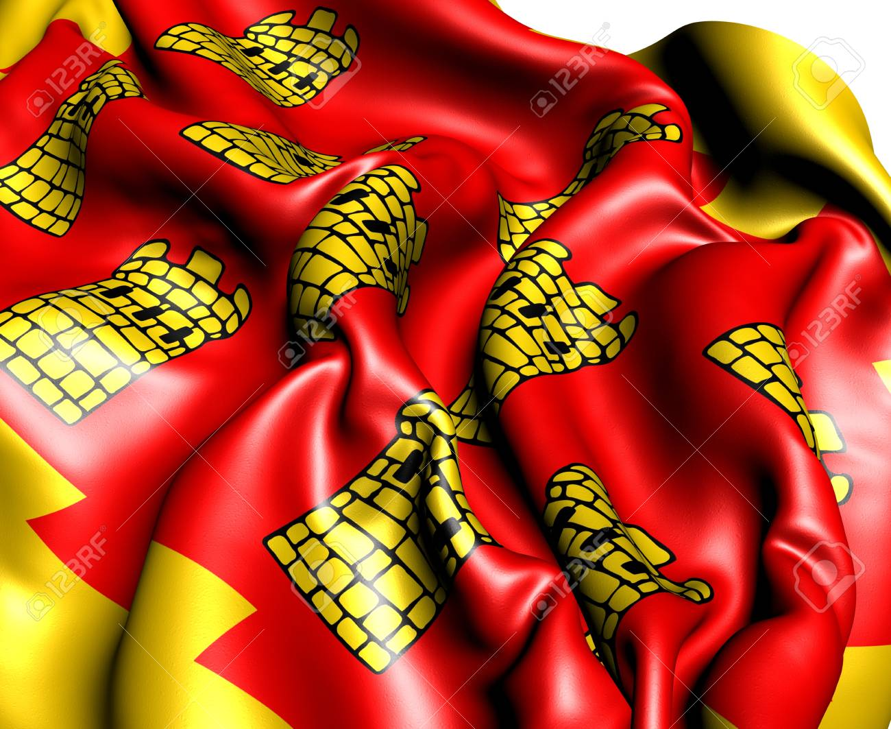 Flag of Greater Manchester, England. Close Up. Stock Photo - 13437842