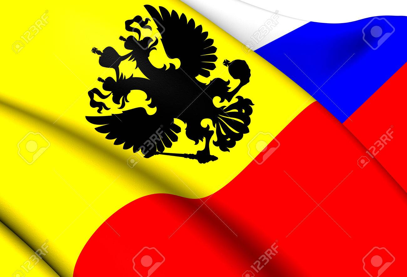 flag of the russian empire 1914 1917 close up stock photo