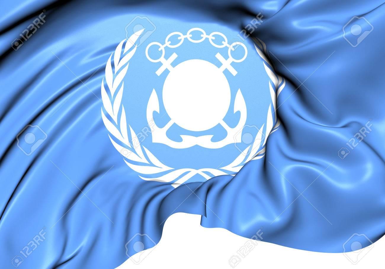 国際海事機関 (IMO) の旗。クロ...