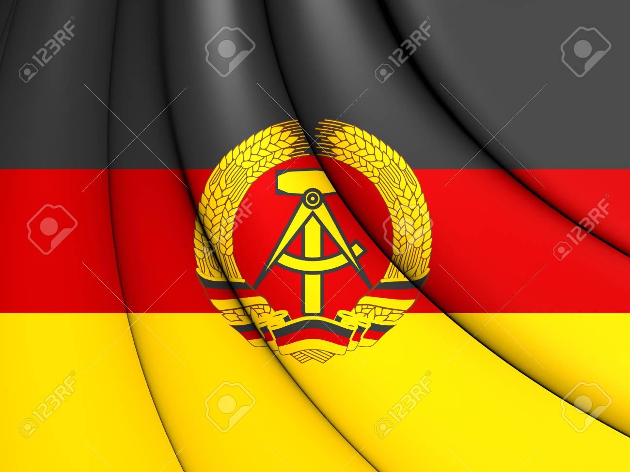 ドイツ民主共和国の 3 D の旗。...