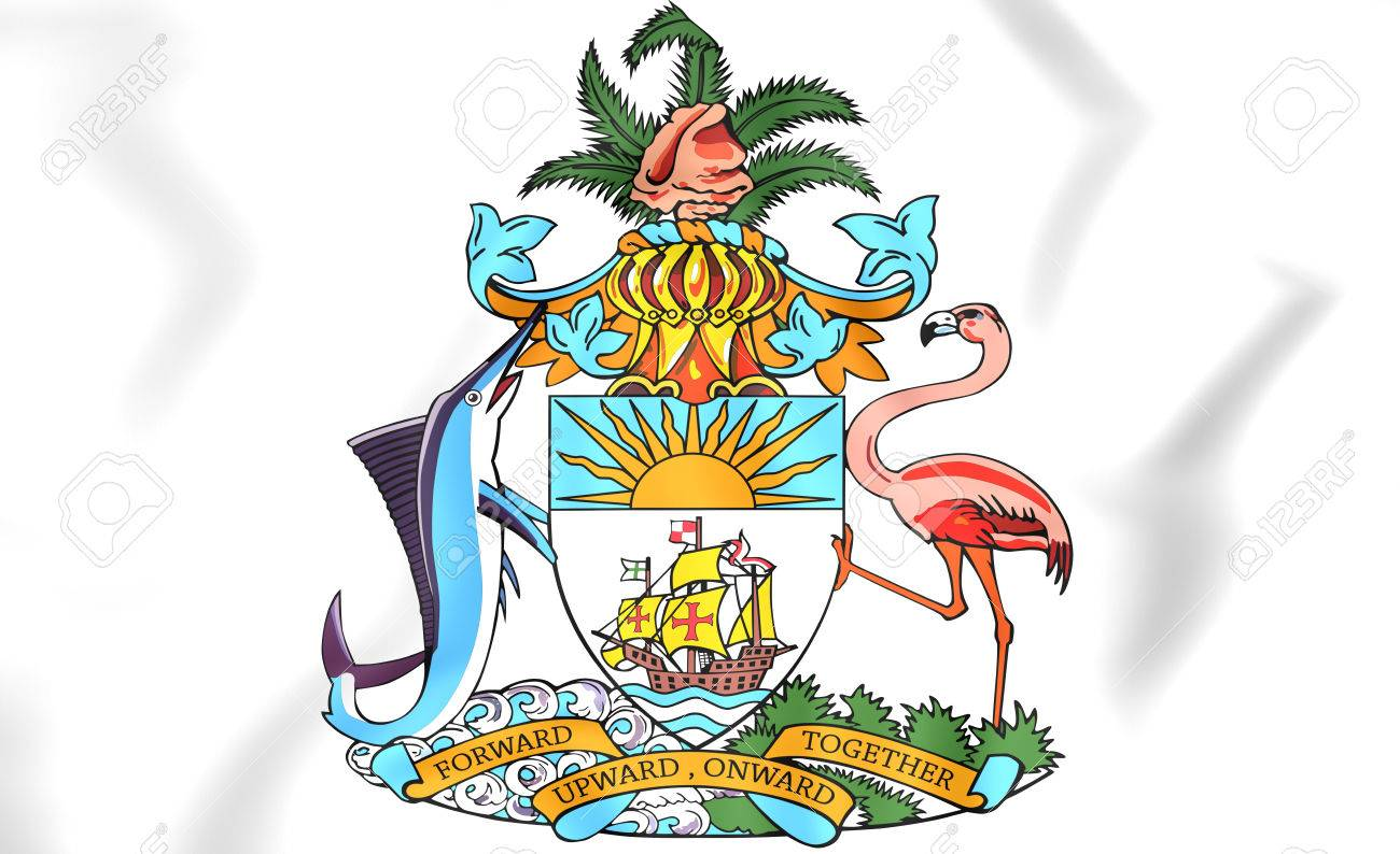 3 D のバハマの国章。クローズ アップ。 の写真素材・画像素材 Image ...