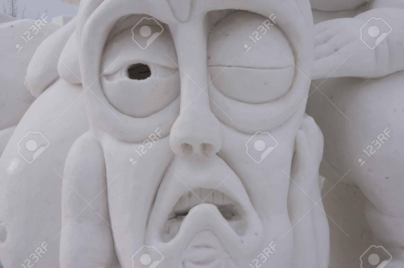 Breckenridge, Colorado  01/26/2013- Ice Sculpture Competition  Stock Photo - 17838065